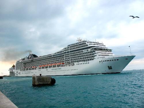 MSC Cruise Ship Poesia In Key West - Cruise ship key west