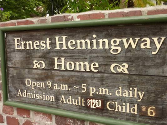 Ernest Hemingway Home On Whitehead Street In Key West Florida